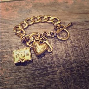Juicy Couture Charm Bracelet with Diary Charm